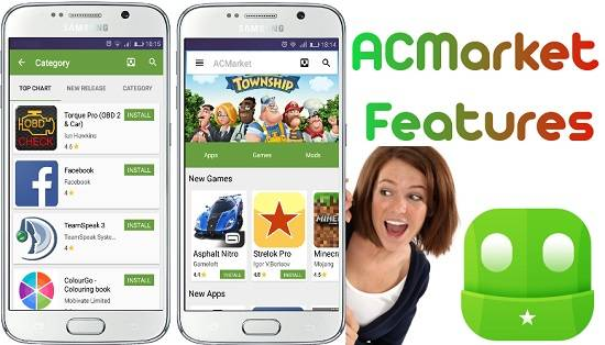 acmarket for Android features